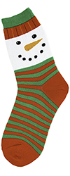 Snowman Face Women's Socks