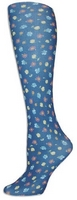Laura's Garden Navy Trouser Socks