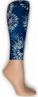 Blue Fireworks Footless Tights-Large/Tall