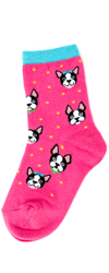 Youth Boston Terrier Socks