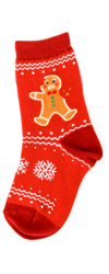 Youth Gingerbread Socks