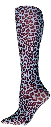 Blue Cheetah Trouser Socks