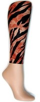 Tiger Footless Tights-Large/Tall