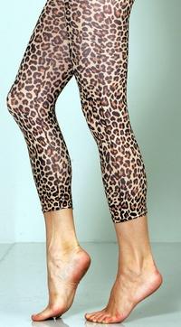 Cheetah Footless Tights