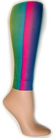 Vertical Rainbow Footless Tights