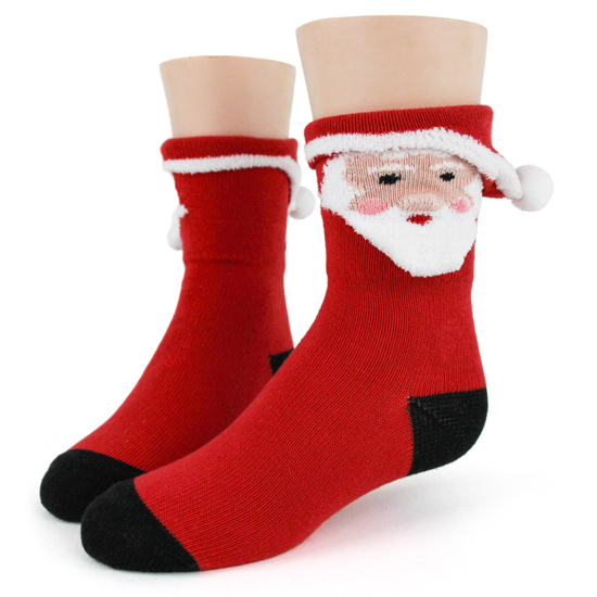 Youth 3D Santa Socks