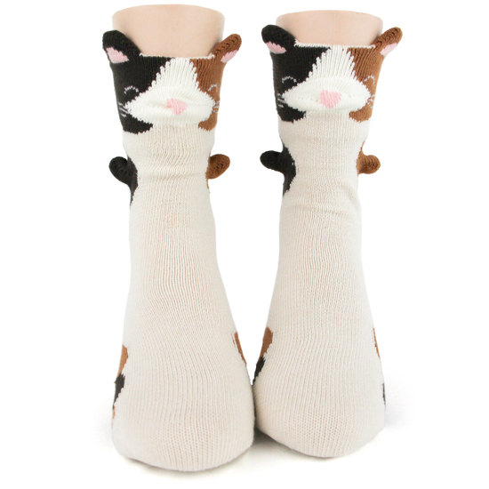 Youth Calico Cat 3D Socks