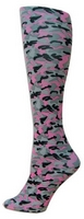 Pink Camouflage Trouser Socks