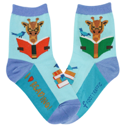Youth I Love Reading Socks
