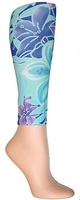 Purple Tropical Footless Tights-Large/Tall