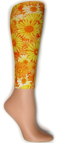 Yellow Daises Footless Tights