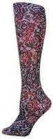 Floral Lace RED Trouser Socks