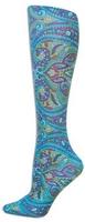 Turquoise Paisley Trouser Socks