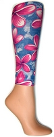 Pink Orchids Footless Tights