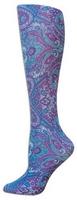 Purple Paisley Trouser Socks