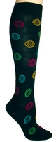 Scribble Dots Knee High Socks