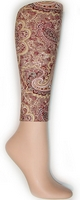 Brown Paisley Footless Tights
