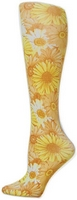 Yellow Daisies Tights-Large/Tall