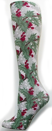 Holiday Holly Tights-Large/Tall