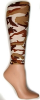 Desert Camouflage Footless Tights-Large/Tall