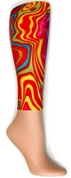 Rainbow Swirl Footless Tights