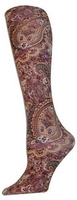 Brown Paisley Tights-Large/Tall