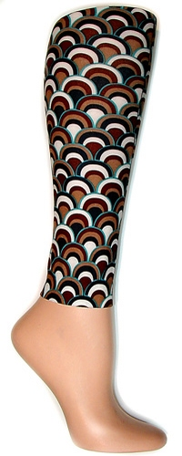 Retro Brown Footless Tights