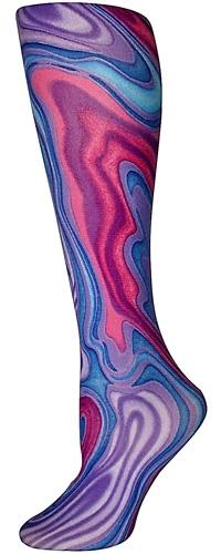 Purple Swirl Trouser Socks