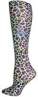Lime Cheetah Trouser Socks