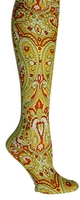 Lime Paisley Tights-Large/Tall