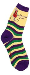 Mardi Gras  Women's Socks