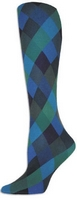 Blue Harlequin Tights-Large/Tall