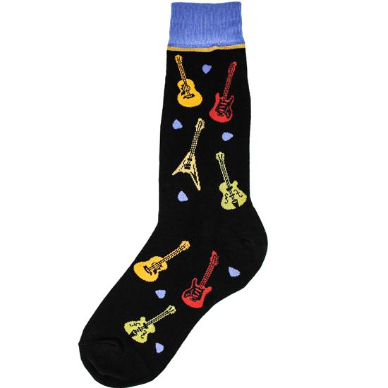Men's All Over Guitars Socks