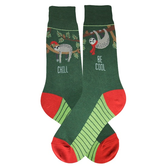 Men's Holiday Sloth Socks