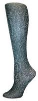 Bronze Snakeskin Trouser Socks