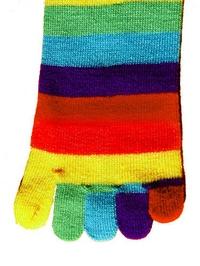 Kids Rainbow Toe Socks