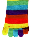 Kids Rainbow Toe Socks
