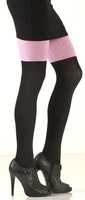 Pink/ Black Signature Cotton Tights