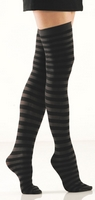Black & Grey Thigh Highs