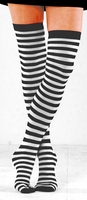 Black & White Thigh Highs