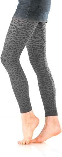 Leopard Textured FootlessTights