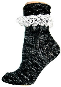 Heather Rag Socks w/Lace