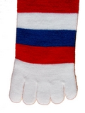 Red, White & Blue Toe Socks