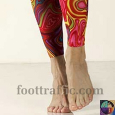 Printed Footless Tights-Large/Tall