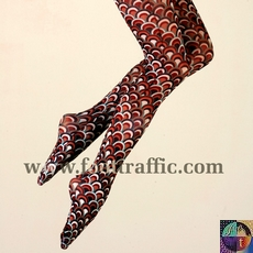 Printed Microfiber Tights