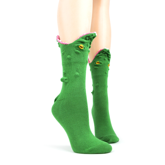 Alligator 3-D Socks