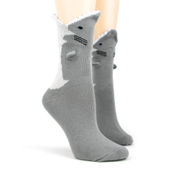 Great White 3-D Sock