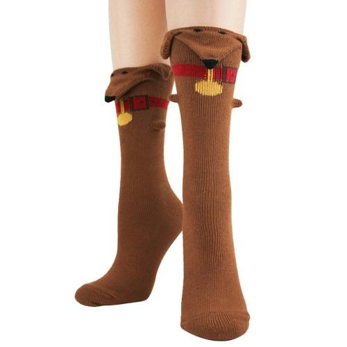 Dachshund 3-D Sock