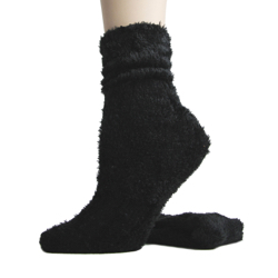 Foot Traffic Microfiber Fuzzy Socks Black