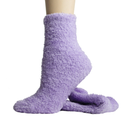 Foot Traffic Microfiber Fuzzy Socks Lavender